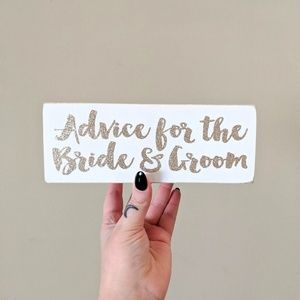 Other - 2 for $20 / Advice for the Bride & Groom Note Box